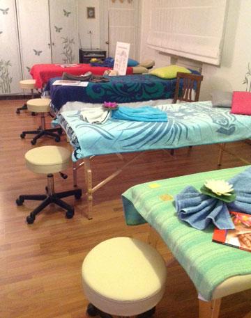 sala corsi di massaggio